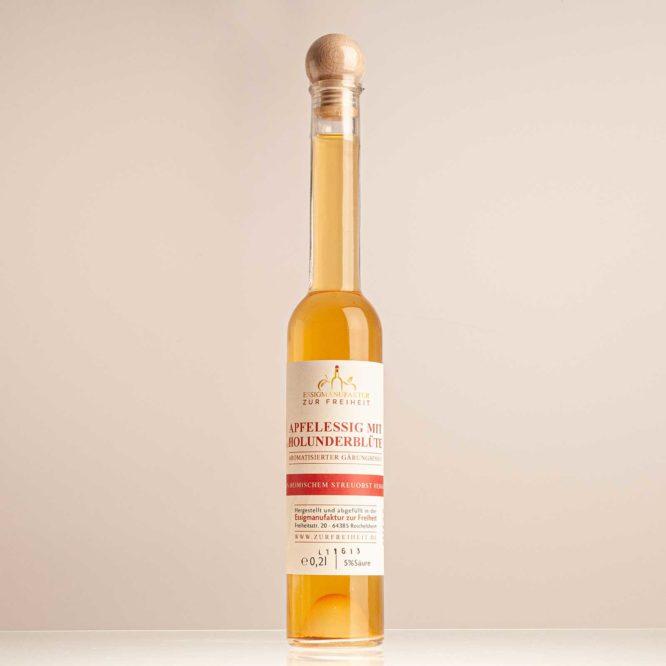 Apfelessig mit Holunderblüte - 200ml Flasche - Essigmanufaktur zur Freiheit