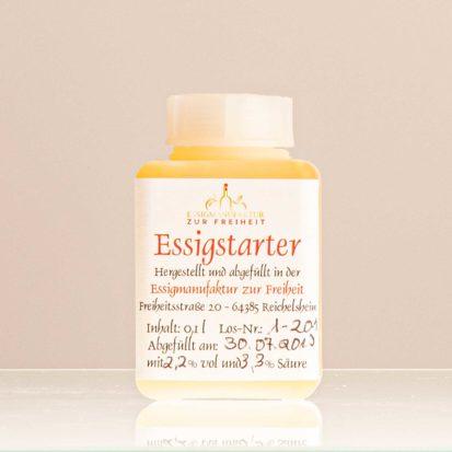 Essigstarter Aus Apfelessig, Flasche 0,1 L, Mit Anleitung